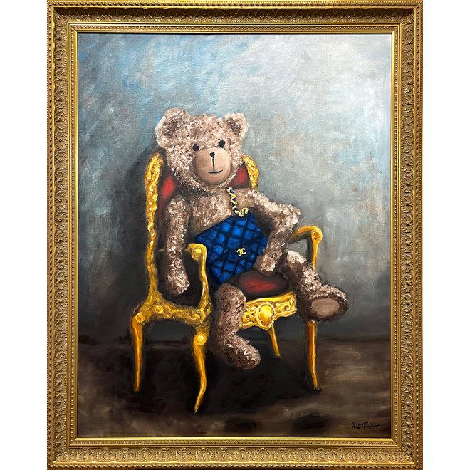 Olieverf schilderij  ''Lady Bobby Loves Chanel''