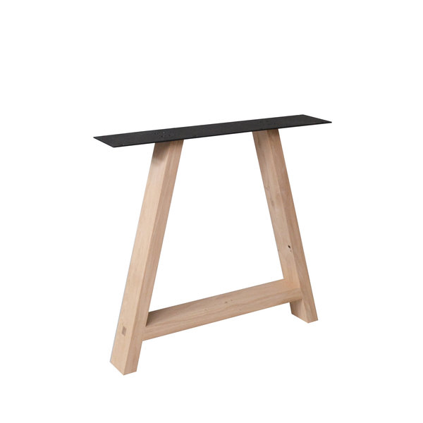 Eiken A-tafelpoten ELEGANT (SET) 4x10 cm - 78 cm breed - 72 cm hoog - Rustiek eikenhout