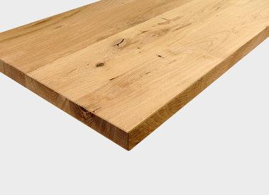 Eiken tafelblad recht
