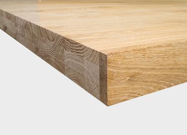 Eiken tafelblad 6 cm dik (3-laags)