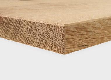 Eiken tafelblad 3 cm dik (1 laag)