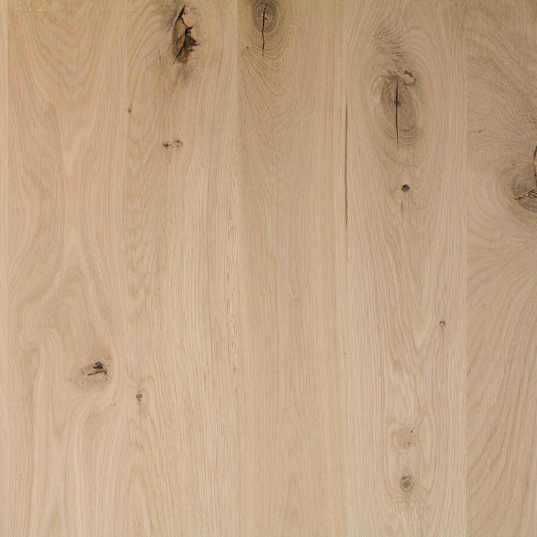 Eiken paneel - 3 cm dik (1-laag) - 122 cm breed - 140 - 300 cm lang in lengtestaffels van 20 cm - Extra rustiek eikenhout kd 8-12% - verlijmd - doorgaande lamellen