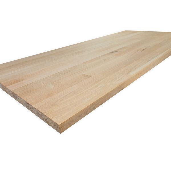 Eiken vingerlas paneel - 2 cm dik (1-laag) - vaste afmetingen - rustiek eikenhout