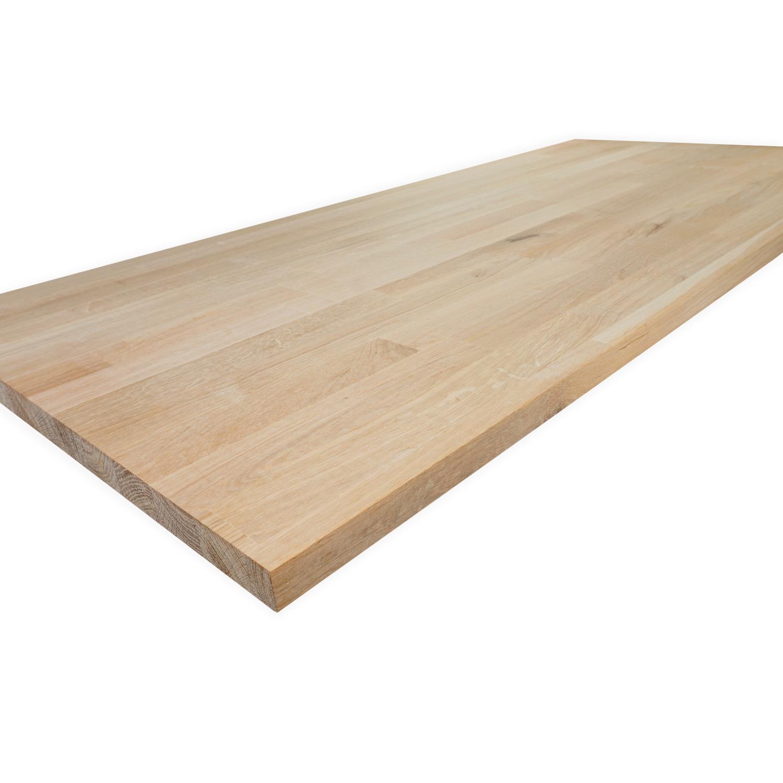 Eiken vingerlas paneel - 2 cm dik (1-laag) - vaste afmetingen - rustiek eikenhout kd 8-12% - in lengtelas verlijmd