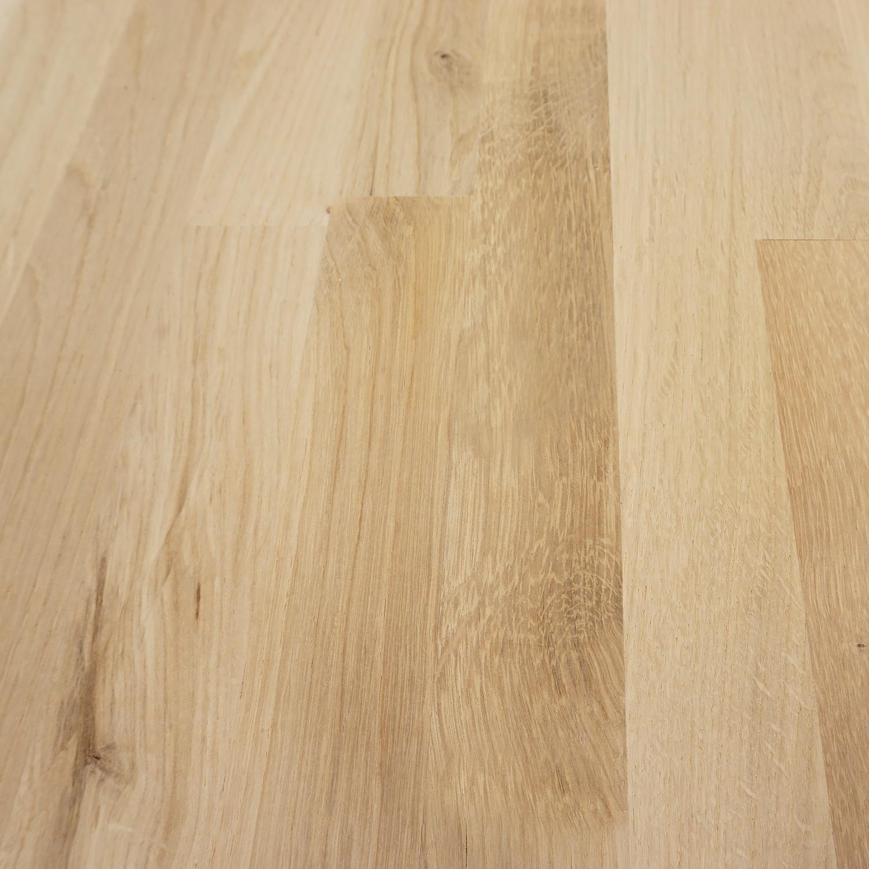 Eiken vingerlas paneel - 2,5 cm dik (1-laag) - vaste afmetingen - rustiek eikenhout kd 8-12% - in lengtelas verlijmd