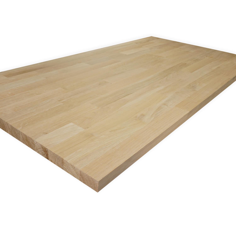 Eiken vingerlas paneel - 2 cm dik (1-laag) - vaste afmetingen - foutvrij eikenhout kd 8-12% - in lengtelas verlijmd