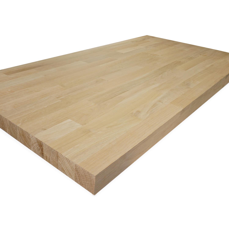 Eiken vingerlas paneel - 4 cm dik (1-laag) - vaste afmetingen - foutvrij eikenhout kd 8-12% - in lengtelas verlijmd