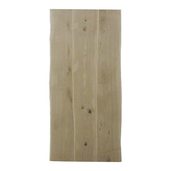 Eiken boomstam tafelblad LUXE 100x200-300 cm - 4 cm dik (1-laag) - rustiek eikenhout