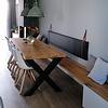 Eiken tafelblad op maat - 6 cm dik (3-laags) - rustiek Europees eikenhout - verlijmd kd 8-12% - 70-120x70-350 cm