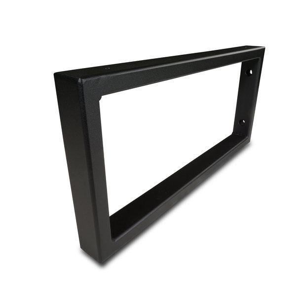 Stalen wastafelbeugel rechthoek (SET) 45x20 cm - ZWART