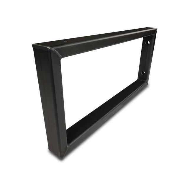 Stalen wastafelbeugel rechthoek (SET) 45x20 cm - STAAL