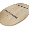 Ovaal eiken tafelblad - 4 cm dik (2-laags) - GEBORSTELD - rustiek Europees eikenhout - diverse ellips maten - verlijmd kd 8-12%
