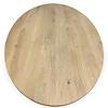 Eiken tafelblad ovaal -  4,5 cm dik (1-laag) - rustiek Europees eikenhout GEBORSTELD - verlijmd kd 10-12%