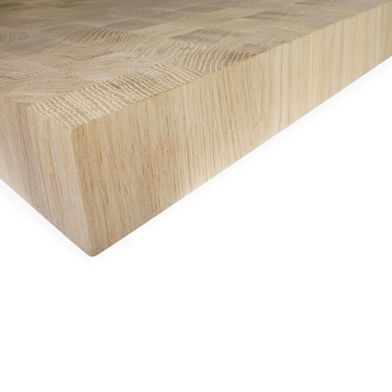 Eiken blad / paneel op maat - kops eiken 43x46 mm -6 cm dik - Foutvrij Europees eikenhout - verlijmd kd 8-12% - 15-100x40-200 cm