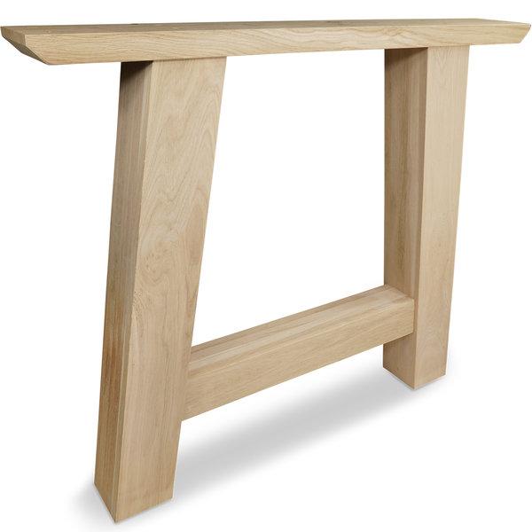 Eiken A-tafelpoten (SET) 10x10cm - 85 cm breed - 72 cm hoog - Foutvrij eikenhout