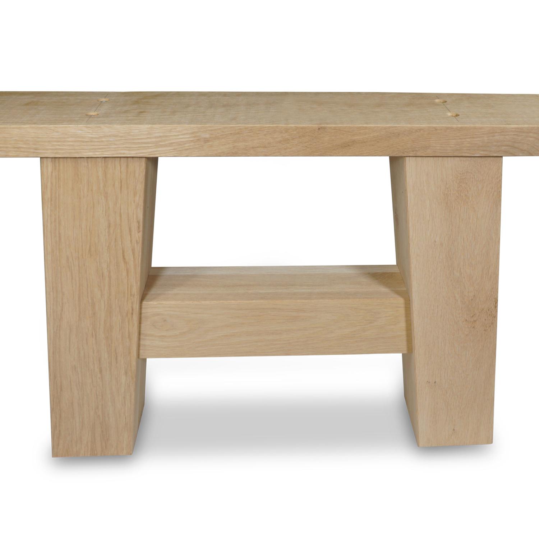 Eiken salontafel A-poten (SET - 2 stuks) 10x10cm - 65 cm breed - Salontafel A-poot van Foutvrij (A-kwaliteit) eikenhout - verlijmd kd 8-12%