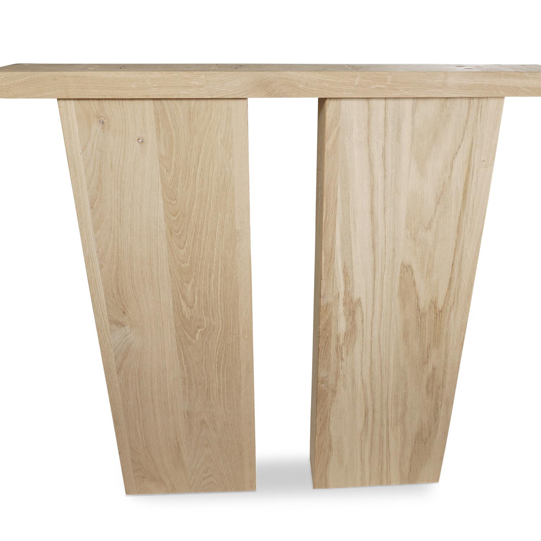 Eiken ovale tafelpoten (SET - 2 stuks) 25x10cm - 75 cm breed - 72 cm hoog -  Tafelpoten speciaal geschikt voor een ovale tafel / ovaal tafelblad - Rustiek eikenhout - verlijmd kd 8-12%