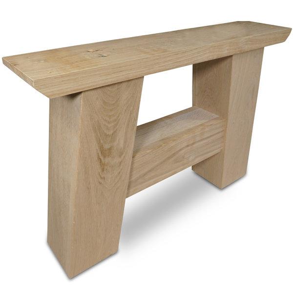 Eiken salontafel A-poten (SET) 12x12cm - 65 cm breed - Foutvrij eikenhout
