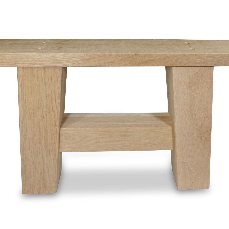Eiken salontafel A-poten (SET - 2 stuks) 10x10cm - 65 cm breed - Salontafel A-poot van Rustiek eikenhout - verlijmd kd 8-12%