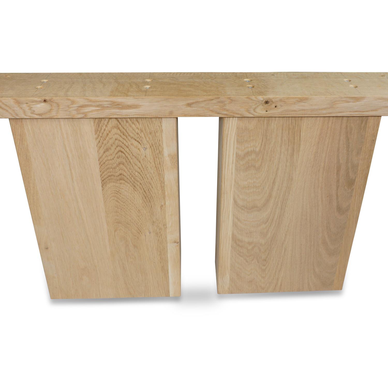 Eiken ovale salontafel poten (SET - 2 stuks) 25x10cm - 65 cm breed -  Salon tafelpoten voor een ovale salontafel / ovaal salontafelblad - Rustiek eikenhout - verlijmd kd 8-12%