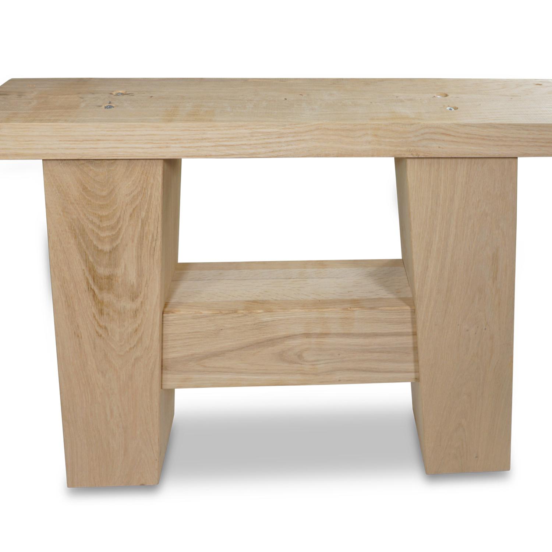 Eiken salontafel A-poten (SET - 2 stuks) 12x12cm - 65 cm breed - Salontafel A-poot van Rustiek eikenhout - verlijmd kd 8-12%