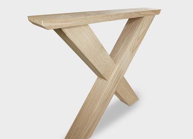 Eiken salontafel poten