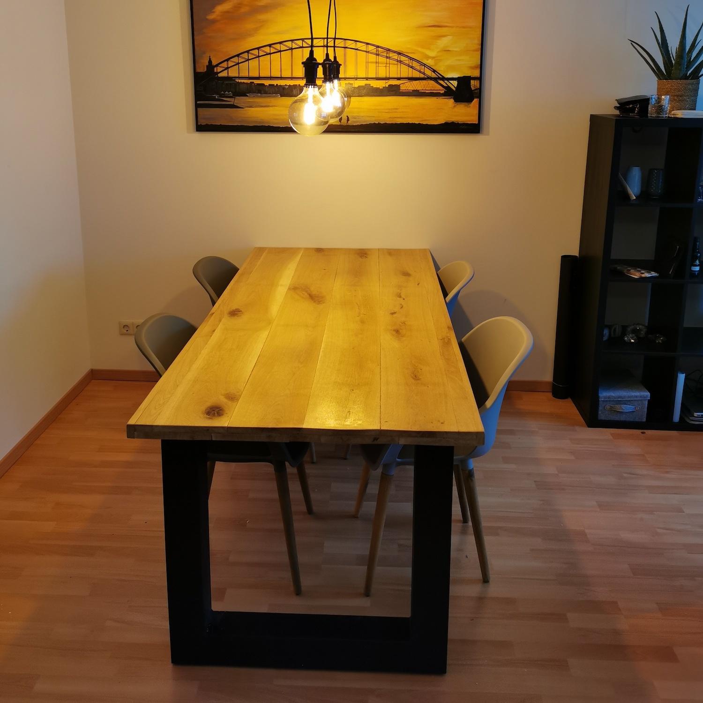 Stalen U-tafelpoten (SET) 10x10x0,3cm - 78 cm breed - 72 cm hoog - U-poot GEPOEDERCOAT zwart - antraciet - wit
