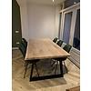 Stalen Trapeze tafelpoten ELEGANT (SET) 4x10x0,3cm - 78-94 cm breed - 72 cm hoog - Trapezium poot GEPOEDERCOAT zwart - antraciet - wit - transparant (staal / blank)