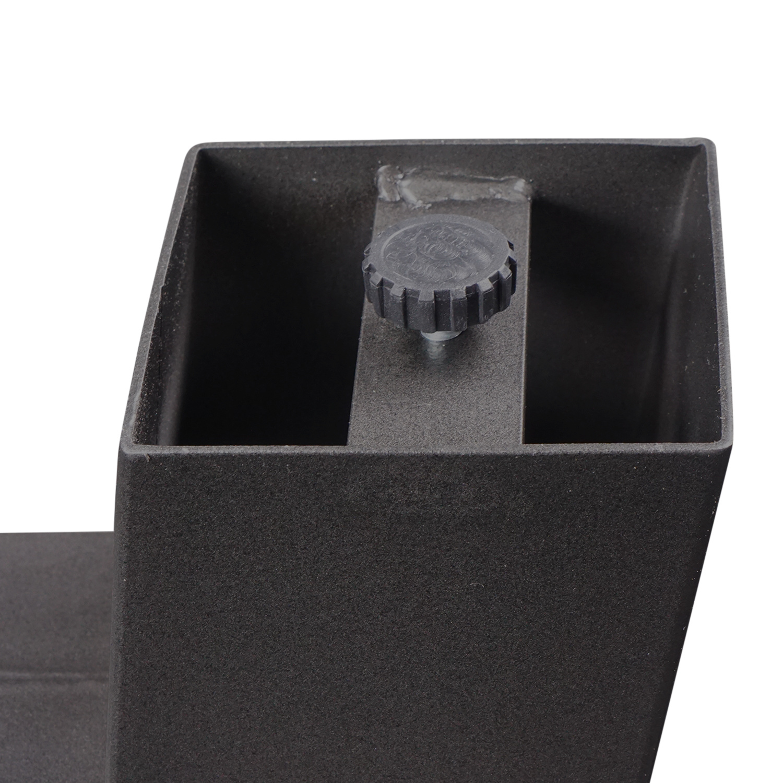 Stalen A-tafelpoten (SET) 10x10 cm - 78-94 cm breed - 72 cm hoog - A-poot GEPOEDERCOAT zwart - antraciet - wit