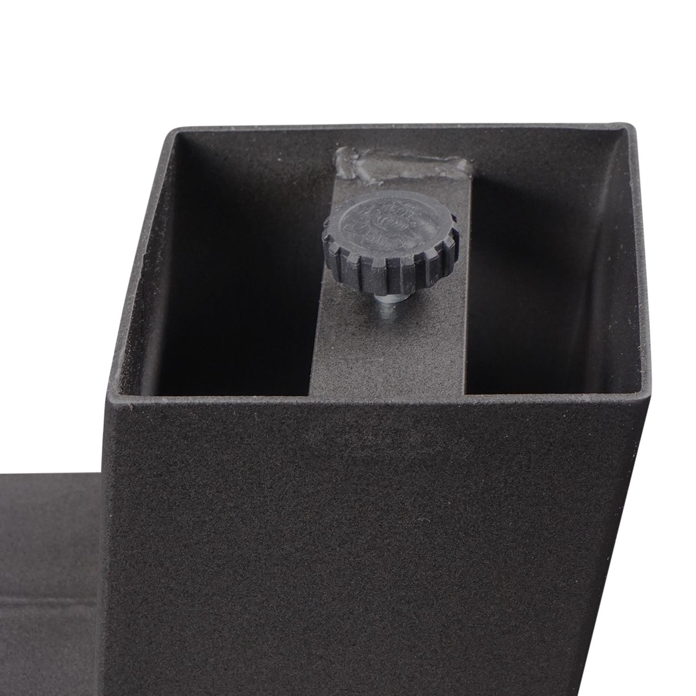 Stalen A-tafelpoten (SET) 10x10x0,3cm - 78-94 cm breed - 72 cm hoog - A-poot GEPOEDERCOAT zwart - antraciet - wit