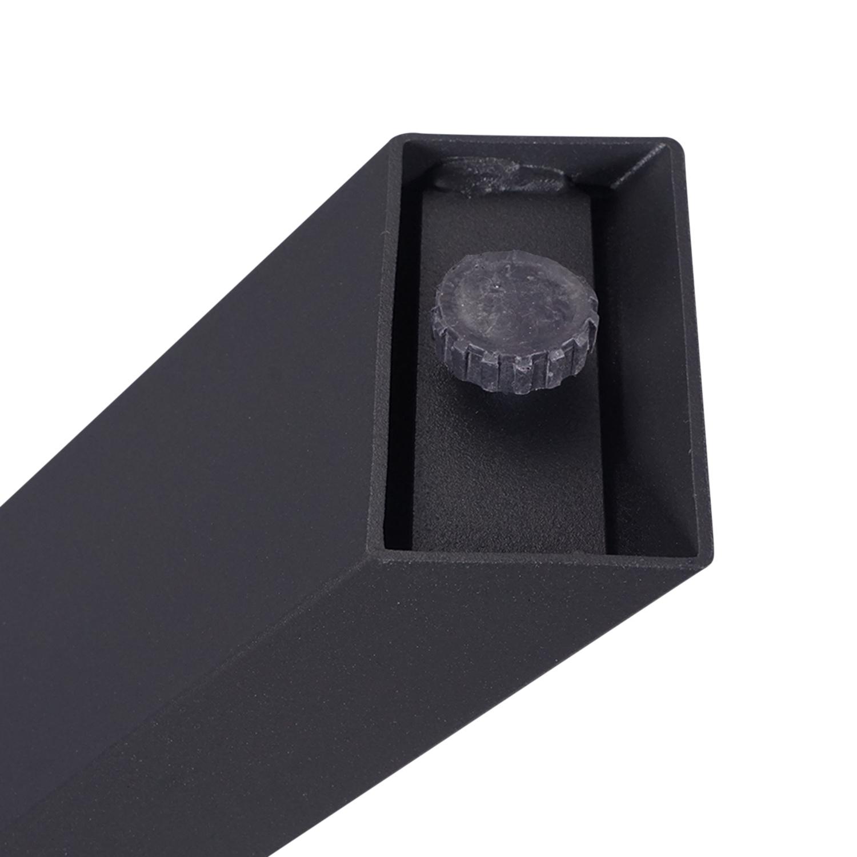 Stalen X-tafelpoten ELEGANT (SET) 4x10x0,3cm - 77-78 cm breed - 72 cm hoog - Kruispoot GEPOEDERCOAT zwart - antraciet - wit