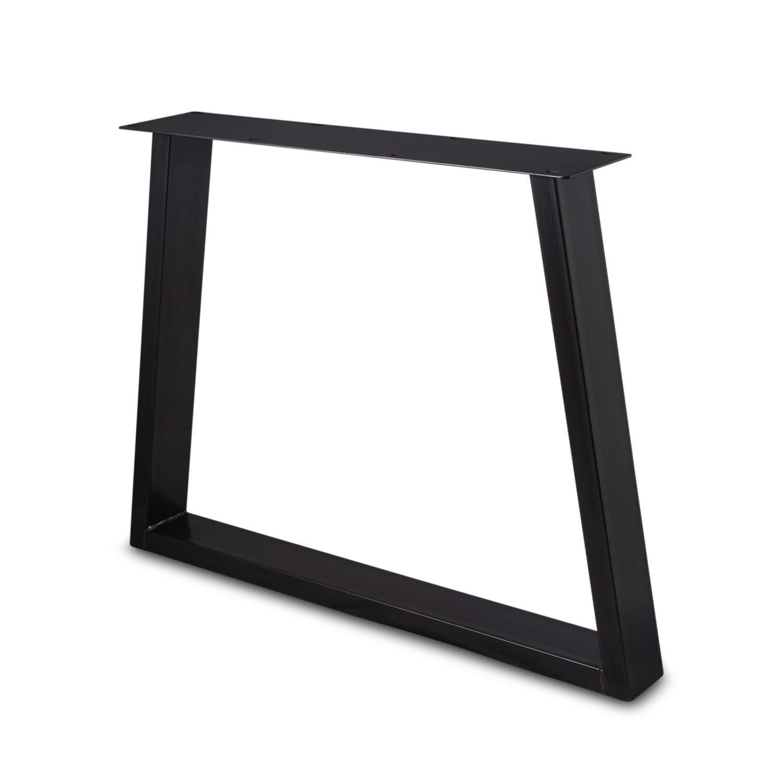 Stalen Trapeze tafelpoten ELEGANT (SET) 4x10 cm - 78-94 cm breed - 72 cm hoog - Trapezium poot GEPOEDERCOAT zwart - antraciet - wit
