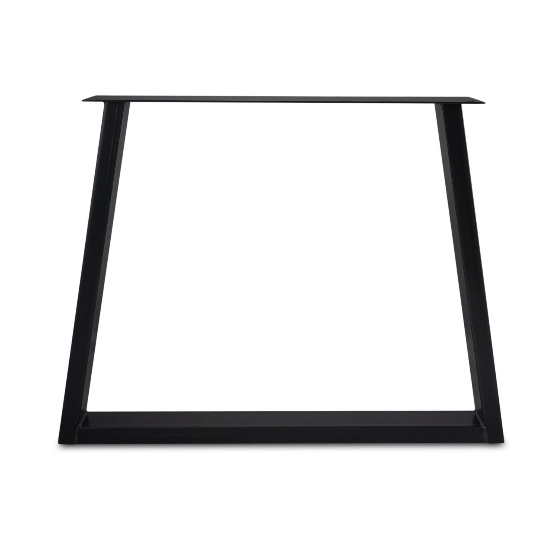 Stalen Trapeze tafelpoten ELEGANT (SET) 4x10x0,3cm - 78-94 cm breed - 72 cm hoog - Trapezium poot GEPOEDERCOAT zwart - antraciet - wit