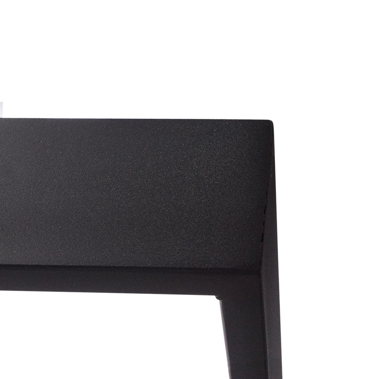 Stalen U-tafelpoten SLANK (SET) 2x10 cm - 78 cm breed - 72 cm hoog - U-poot GEPOEDERCOAT zwart