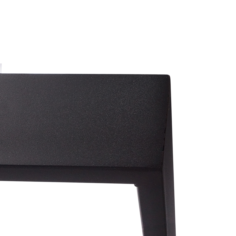 Stalen U-tafelpoten SLANK (SET) 2x10x0,3cm - 78 cm breed - 72 cm hoog - U-poot GEPOEDERCOAT zwart