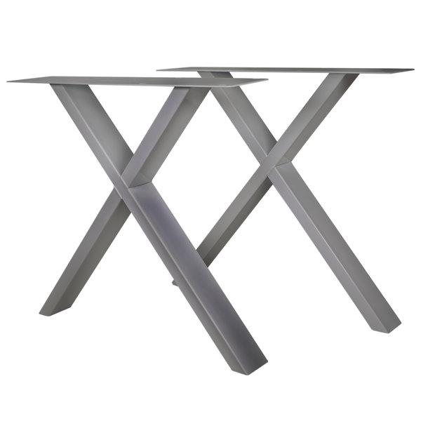 RVS X-tafelpoten ELEGANT (SET) 4x10cm - 78 cm breed - 72 cm hoog