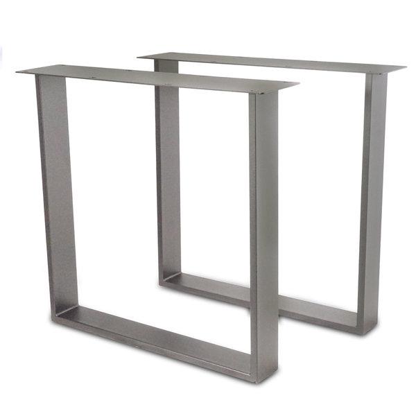 RVS U-tafelpoten SLANK (SET) 2x10cm - 78 cm breed - 72 cm hoog