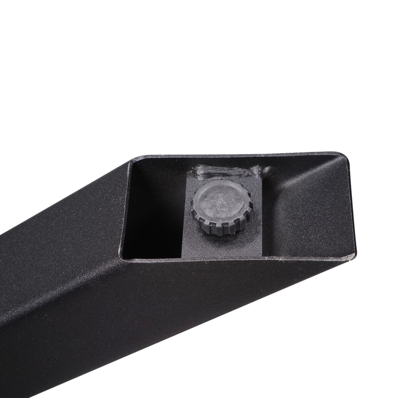 Stalen salontafel onderstel Matrix (3D) 6x6x0,3cm - 60x90 cm - 38 cm hoog - Bijzettafel onderstel GEPOEDERCOAT- 3-delig -  zwart - antraciet - wit
