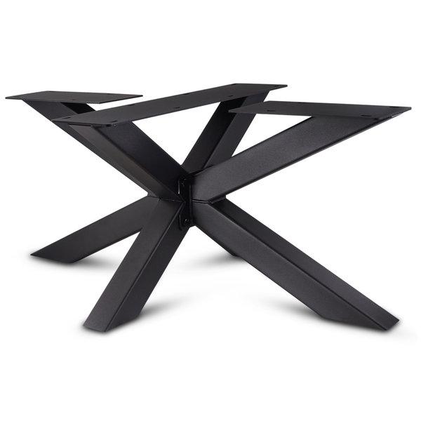 Stalen salontafel onderstel Matrix (3D) 6x6 cm - 60x90 cm - 38 cm hoog - 3-delig - GECOAT