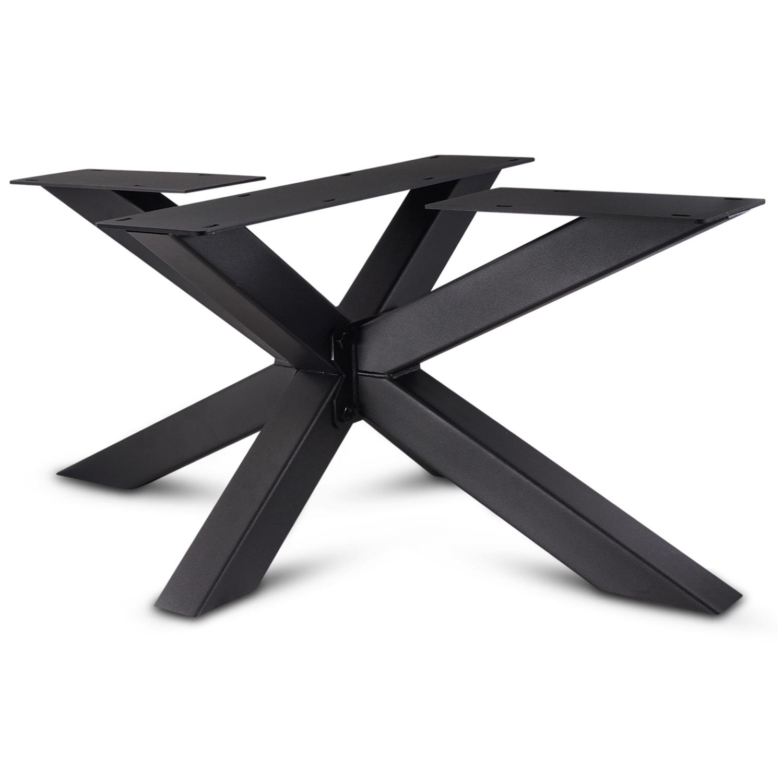 Stalen salontafel onderstel Matrix (3D) 6x6 cm - 60x90 cm - 38 cm hoog - Bijzettafel onderstel GEPOEDERCOAT- 3-delig -  zwart