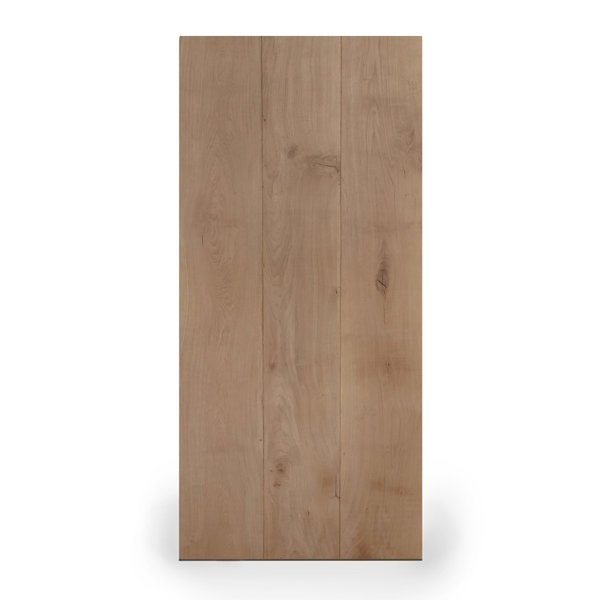 Eiken tafelblad LUXE (3 lamellen) - 4,5 cm dik (1-laag) - extra rustiek eikenhout - geborsteld + V-groeven