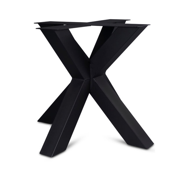 Stalen onderstel Dubbele X (3D) - 10x10cm - 90x85 cm - 72 cm hoog - GECOAT