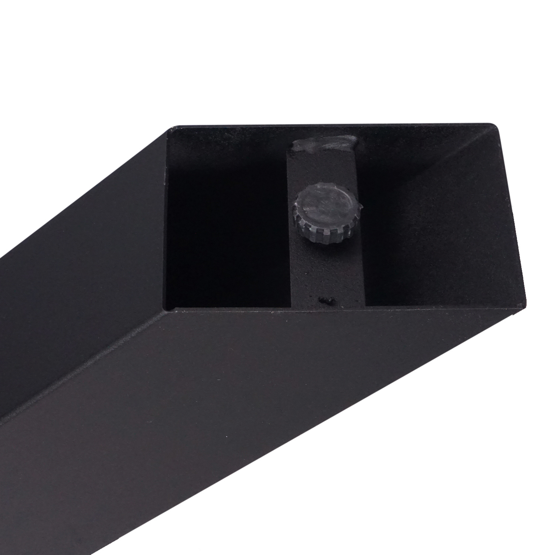 Stalen onderstel Dubbele X (3D) - 10x10x0,3cm - 90x85 cm - 72 cm hoog - 3D dubbele kruispoot GEPOEDERCOAT zwart - antraciet