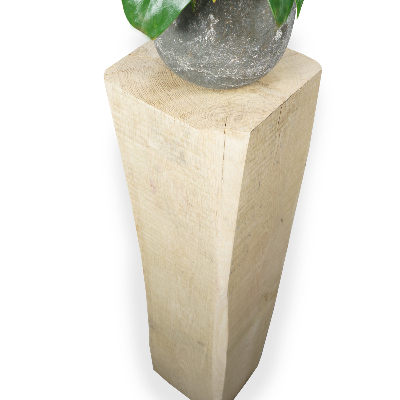 Eiken sokkel / zuil 300x300  mm - Ruw / Fijnbezaagd met lange kanten (af)geschaafd - Europees eikenhout ad 20-25%