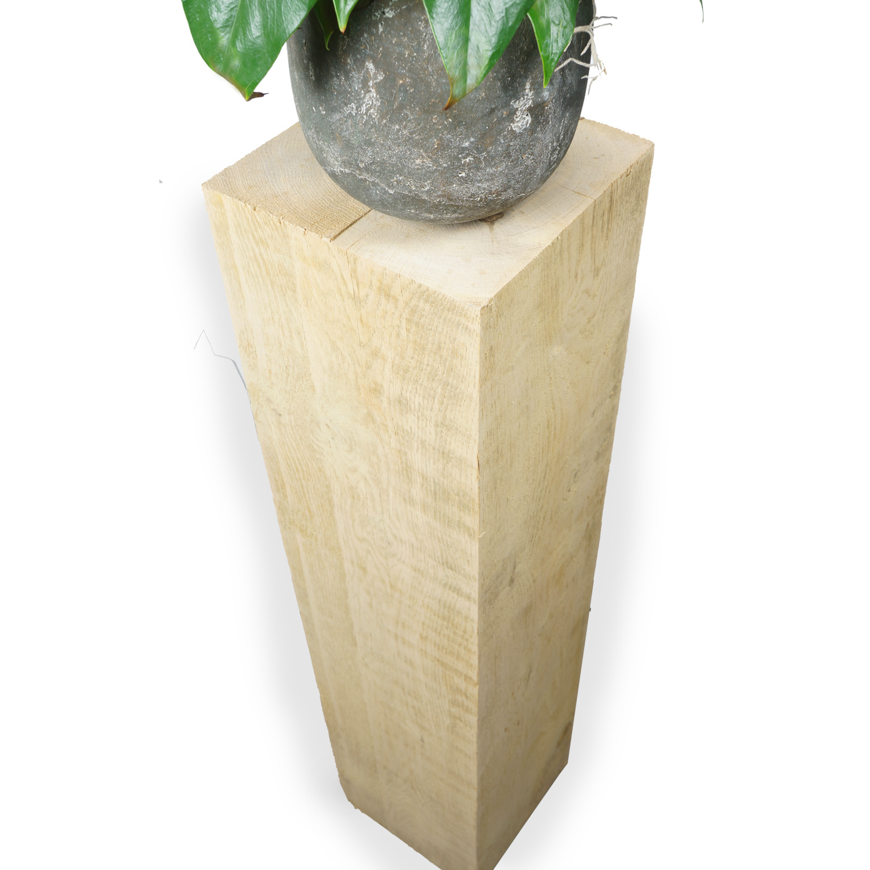 Eiken sokkel / zuil 300x300  mm - Ruw / Fijnbezaagd Europees eikenhout ad 20-25%