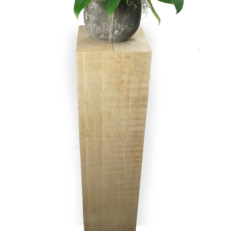 Eiken sokkel / zuil 250x250  mm - Ruw / Fijnbezaagd Europees eikenhout ad 20-25%