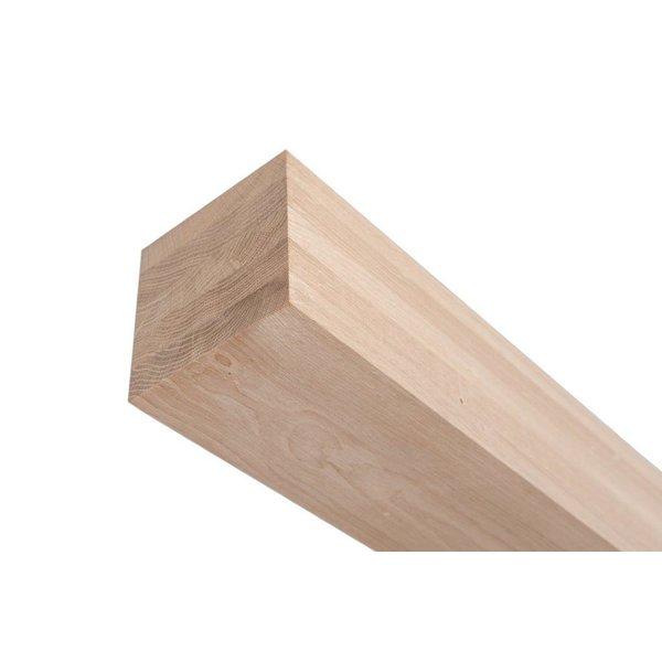 Eiken tafelpoot 8x8 cm - Massief verlijmd - Foutvrij eikenhout (per stuk)