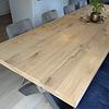 Eiken tafelblad op maat - 6 cm dik (3-laags) - rustiek Europees eikenhout - verlijmd kd 8-12% - 50-120x50-350 cm