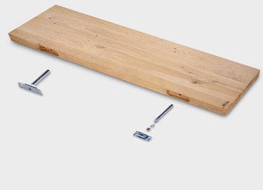 Eiken wandplank (blind)