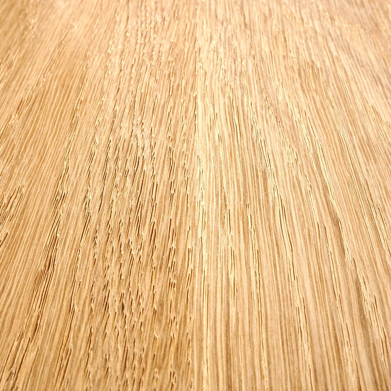 Eiken  tafelblad verjongd - op maat - 4 cm dik (1-laag) - met verjongde rand - foutvrij Europees eikenhout - verlijmd kd 8-12% - 50-120x50-300 cm  - GEBORSTELD